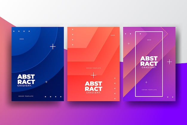Gradient shapes cover collection concept Free Vector