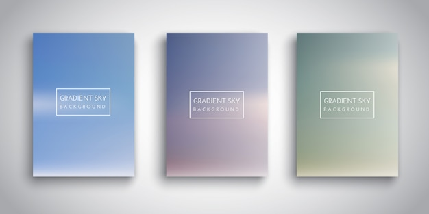 Gradient sky background collection