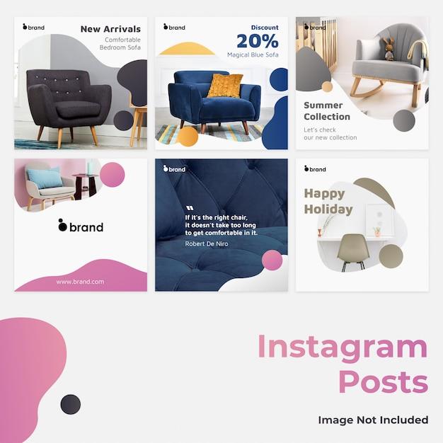 Gradient social media instagram banner Premium Vector