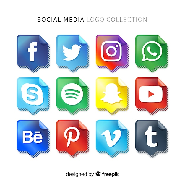 Logo social media gradiente Vettore gratuito