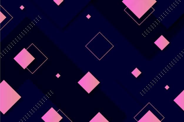 Quadrati sfumati su sfondo scuro Vettore gratuito