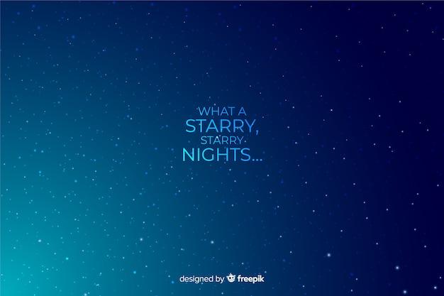 Gradient starry night decorative background Free Vector