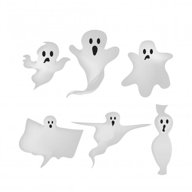 Gradient style halloween ghost element design Premium Vector