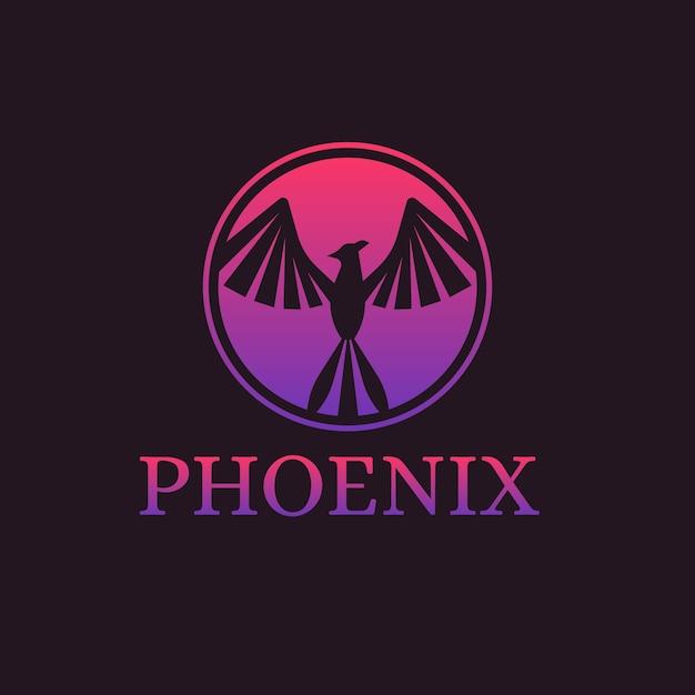 Gradient templatephoenix logo Free Vector