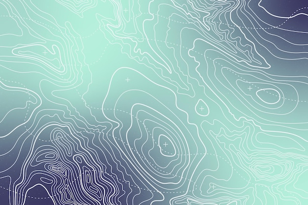 Gradient topographic map background Premium Vector