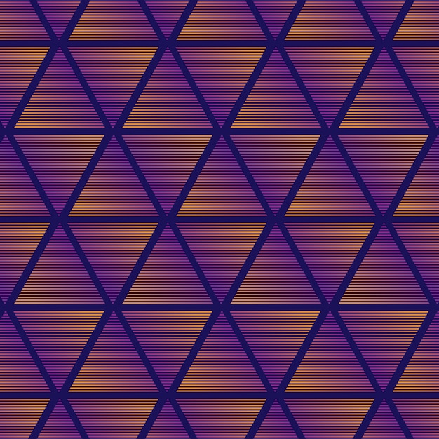 Gradient triangle pattern background Free Vector