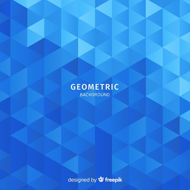 Gradient triangles background Free Vector