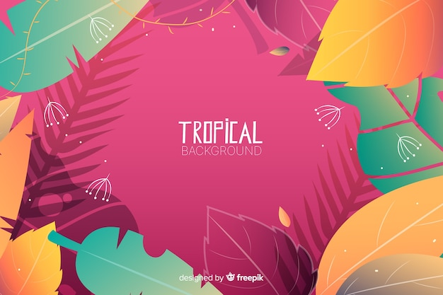 Gradient tropical background Free Vector