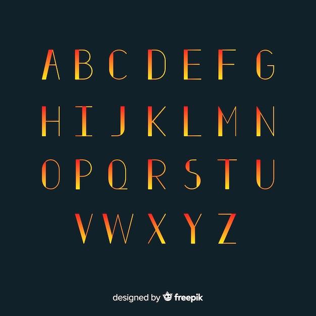 Gradient typography template Free Vector
