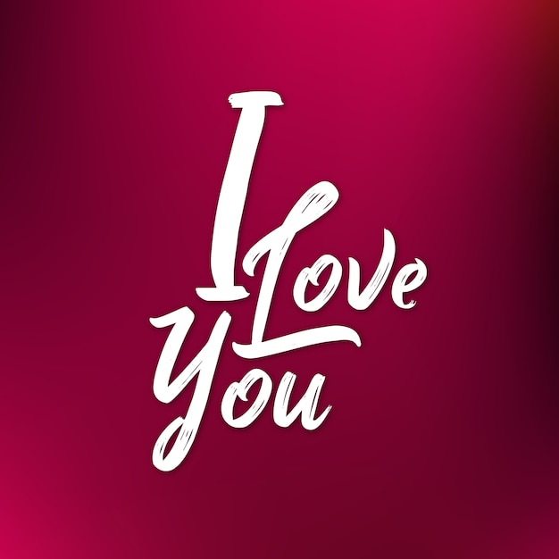 gradient valentine i love you background vector free download