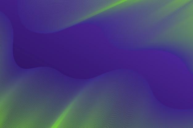 グラデーションバイオレットと黄色の暗い波状の背景 無料ベクター