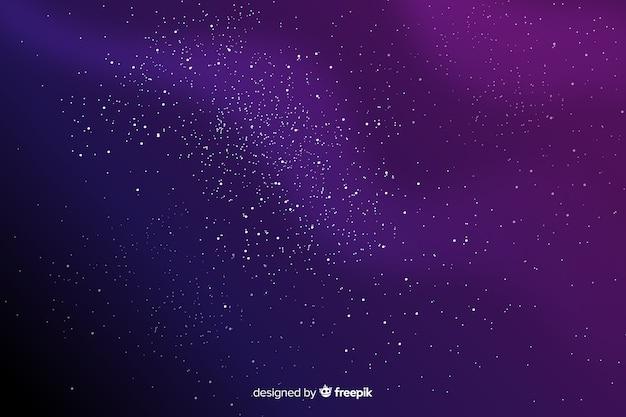 グラデーションバイオレット星空の背景 Premiumベクター
