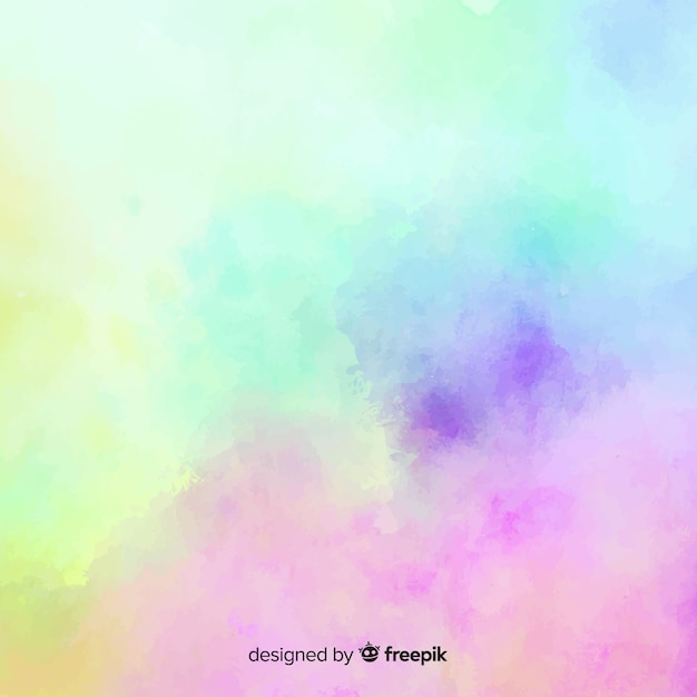 Gradient watercolor stain background Free Vector