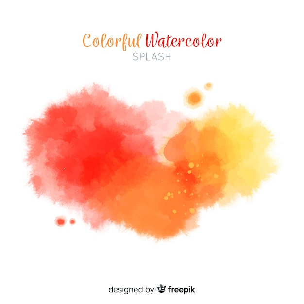 Gradient watercolor stains background Free Vector