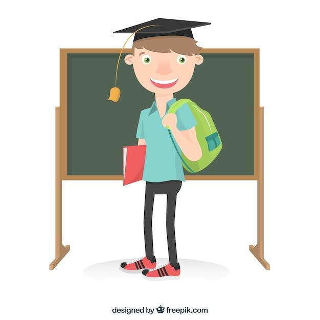 Картинка студента мультяшная