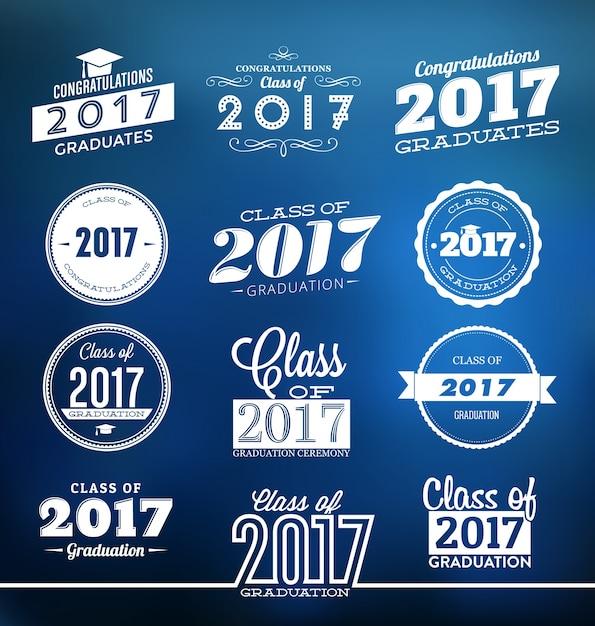 Graduation 2017 typographic designs Vector | Free Download