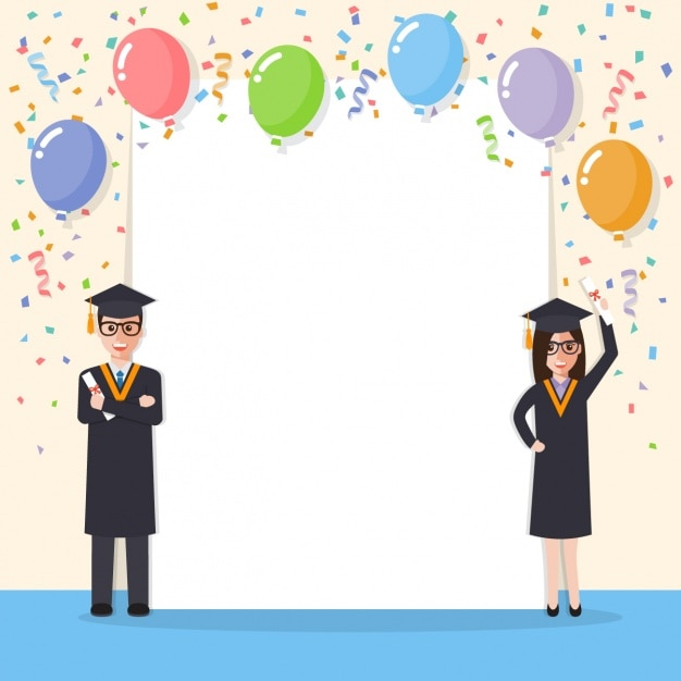 Graduation background design Vector | Free Download