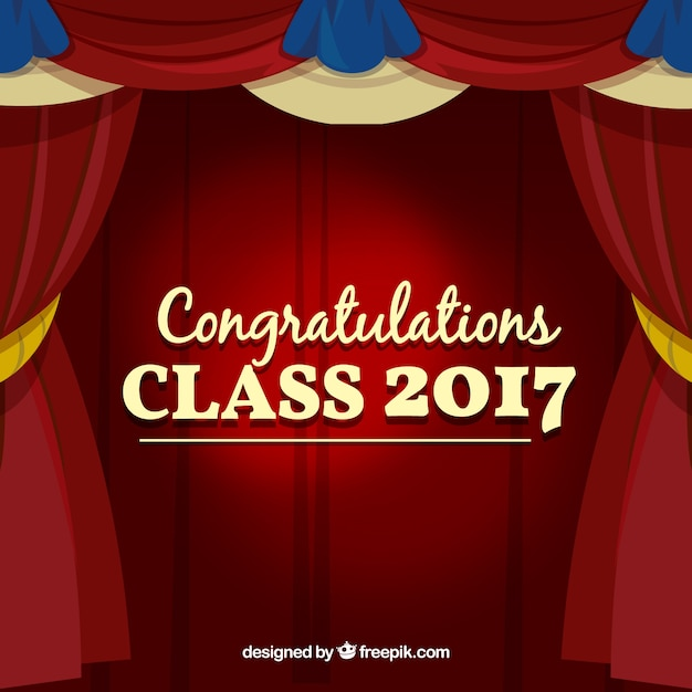 Graduation background with curtains Vector | Free Download