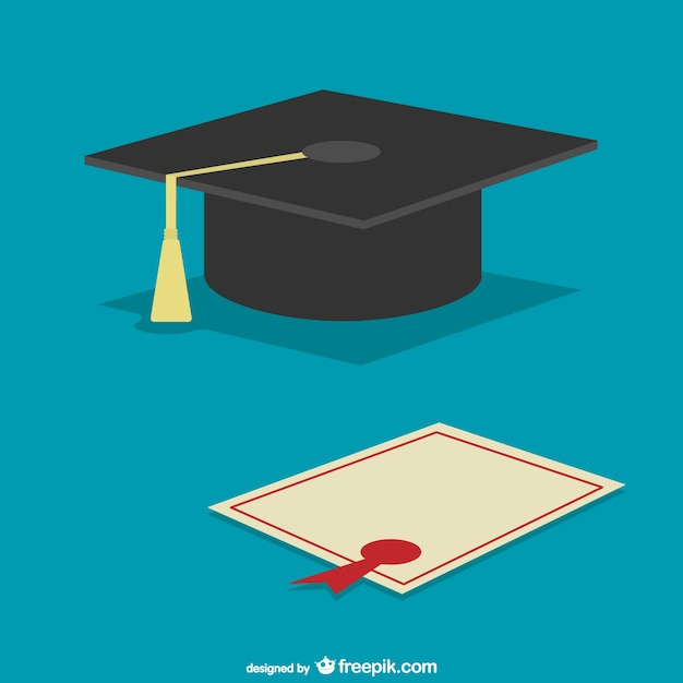 Graduation Cap And Diploma Vector Free Download