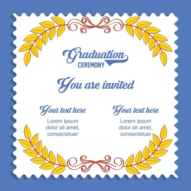 Graduation card invitation icon vector premium download graduation card invitation icon premium vector filmwisefo