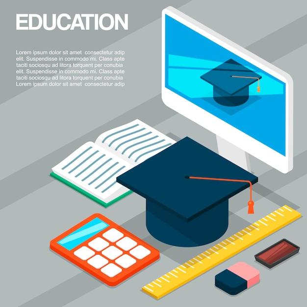 Graduation ceremony or party announcement template Premium Vector