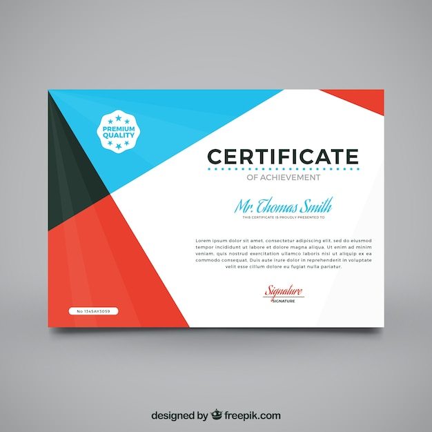 Graduation Certificate With Abstract Design Vector  Free Download