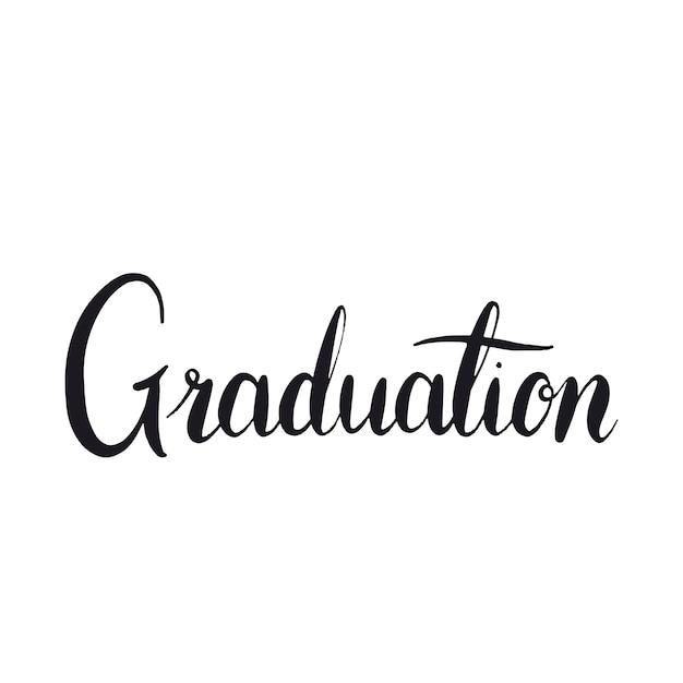 卒業コンセプトタイポグラフィスタイルベクトル 無料ベクター