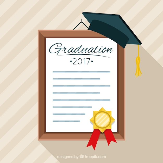 download vector graduation diploma background with mortarboard