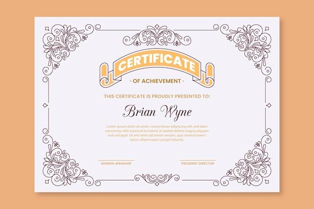 Graduation elegant certificate template Free Vector