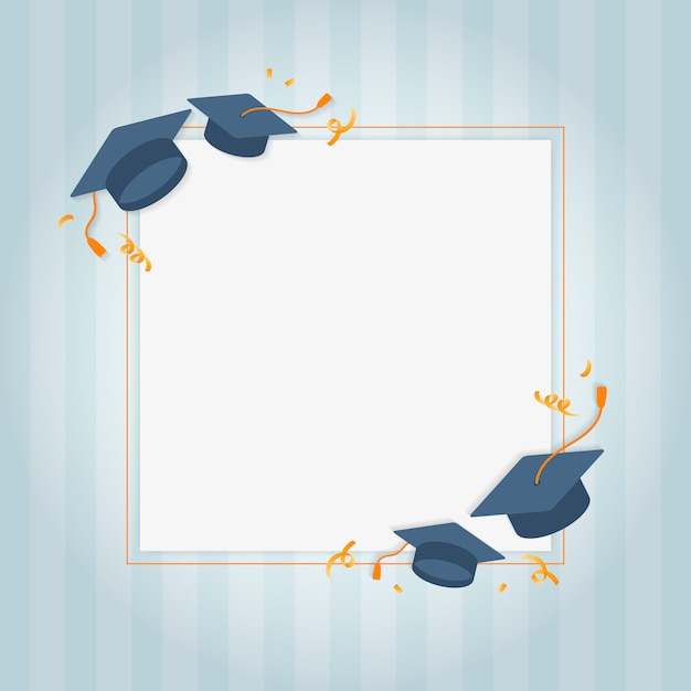 Graduation greeting card Free Vector