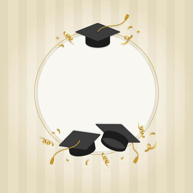Graduation greeting card Free Vector