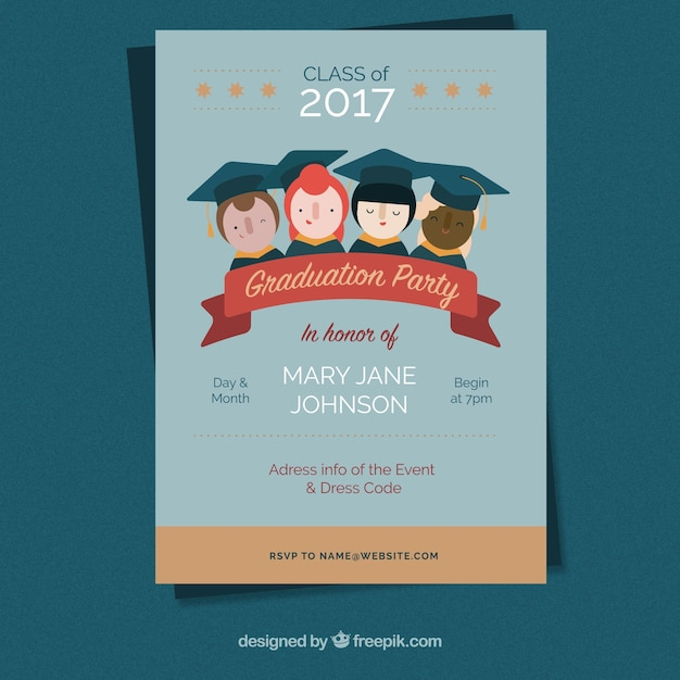 Graduation party 2017 brochure Vector | Free Download