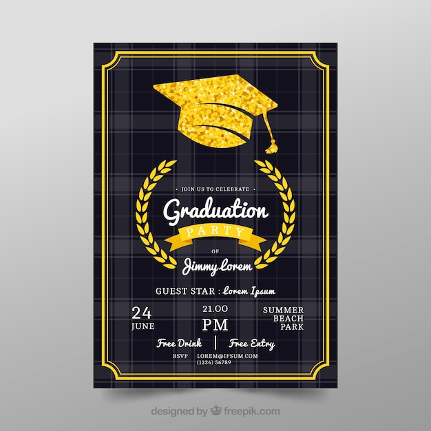 Graduation Poster Template Vector  Free Download