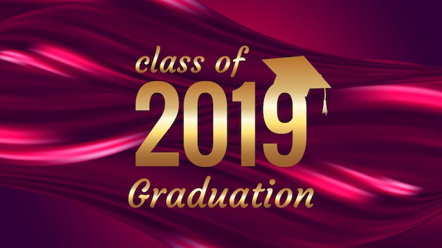 Graduation text design Premium Vector