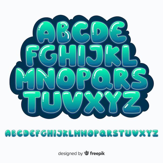 Graffiti alphabet Free Vector