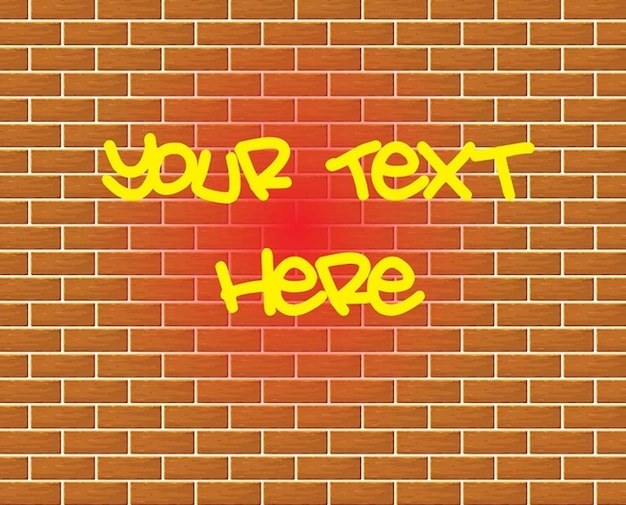 Graffiti brick wall drawing vector Vector