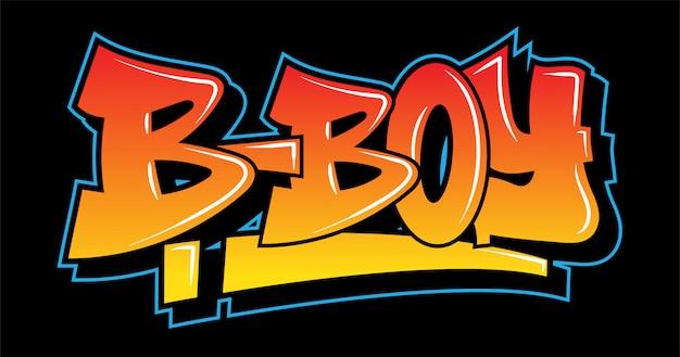 Graffiti style inspiration b-boy. decorative lettering. Premium Vector
