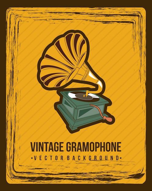 premium vector gramophone over vintage background vector illustration https www freepik com profile preagreement getstarted 3215323