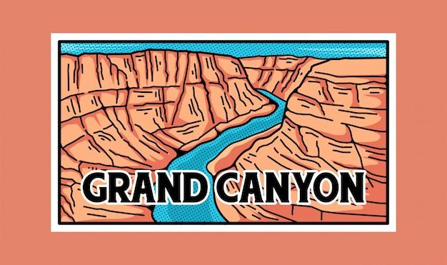 Grand canyon national park sticker. Premium Vector