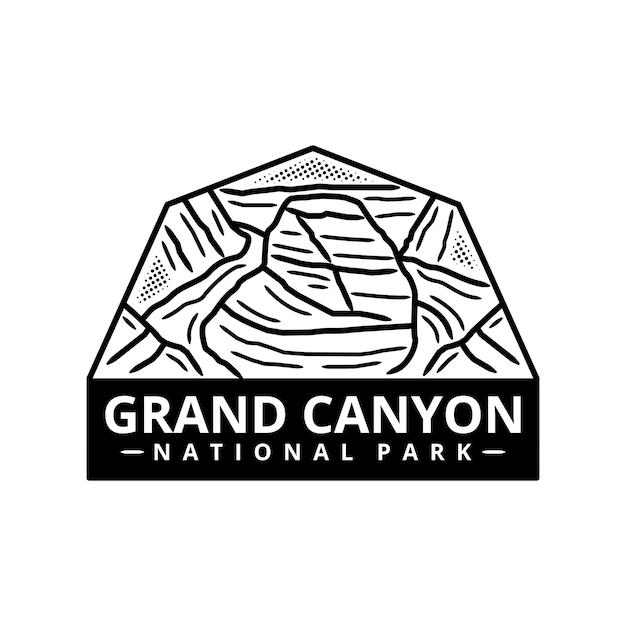 Grand canyon national park sticker Premium Vector