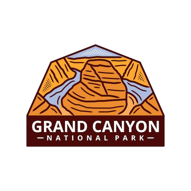 Grand canyon national park sticker Premium Vector