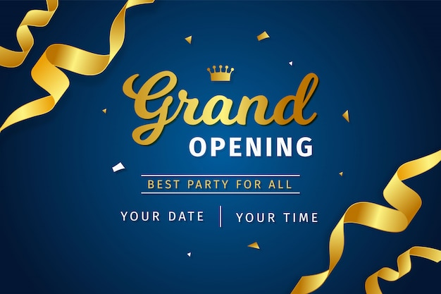 Grand opening background realistic style Premium Vector