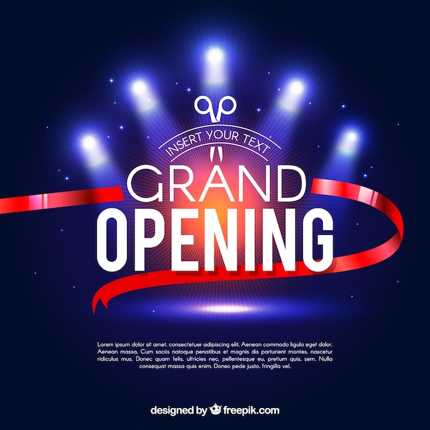 Grand Opening Vectors Photos And PSD Files Free Download