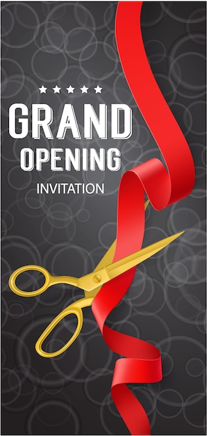 Grand Opening Banner Vector Free Download
