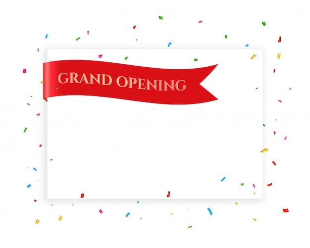 Grand opening celebration background with copyspace Free Vector