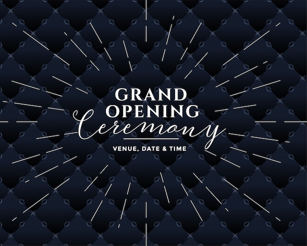 Grand opening ceremony black design Free Vector