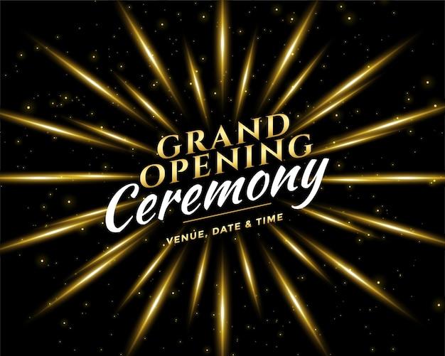 Grand opening ceremony celebration invitation card design Free Vector
