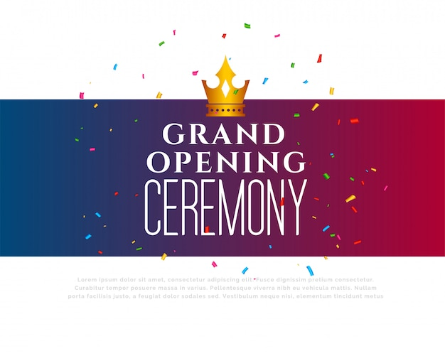 Grand opening ceremony celebration template Free Vector