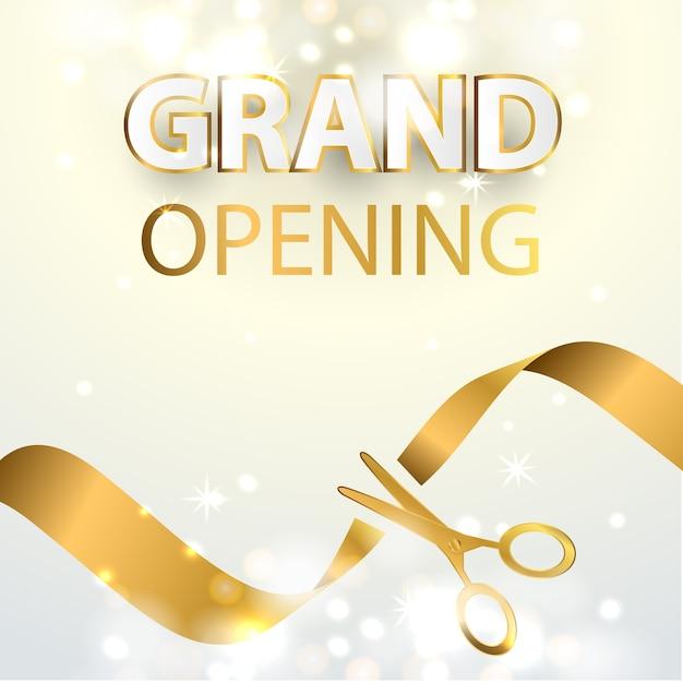 Grand opening event design background Premium Vector