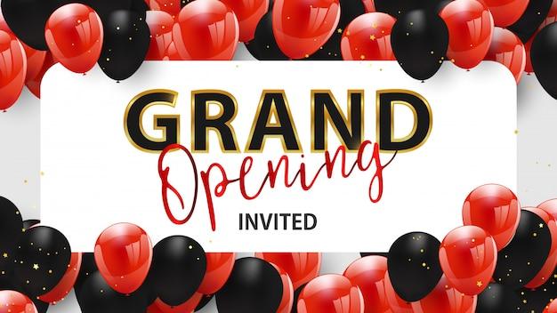 Grand opening event design. Premium Vector